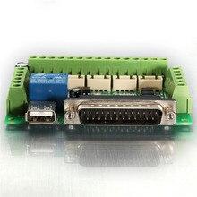 DANIU 5 axes CNC adaptateur dinterface carte de rupture contrôleur de CNC pour moteur pas à pas carte pilote + 1 câble USB