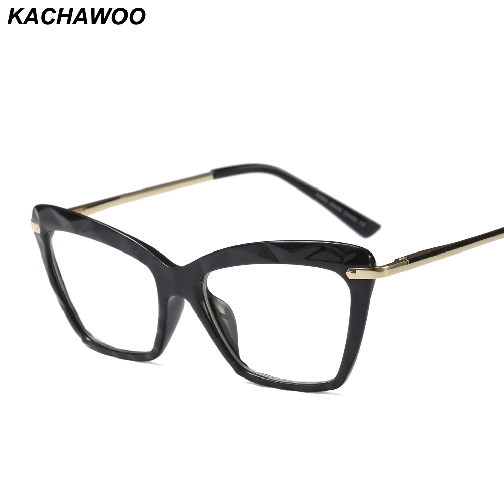 5936301023c Kachawoo Wholesale 6pcs Ladies Eyeglasses Optical Fashion Brown Transparent Square  Glasses Frame For Women Eyewear Accessories-in Eyewear Frames from ...