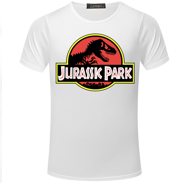 e759c746250 2018 JURASSIC PARK Print T Shirt Fashion Casual Tops Men s T-shirt Jurassic  World O-Neck Short Sleeve TShirt Men Top Tee S5MC08