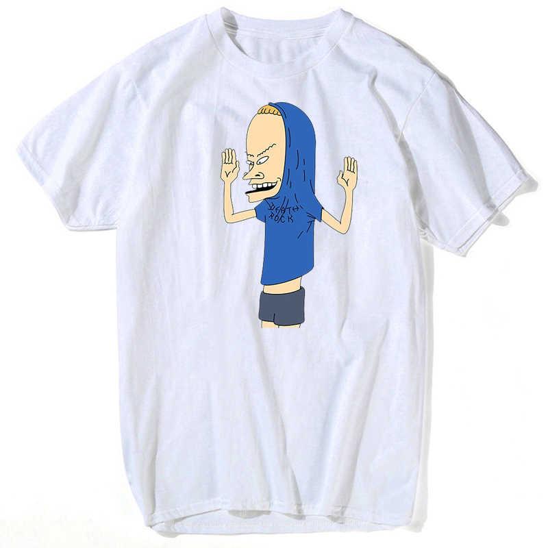 Koszulka Beavis & Butthead dla mężczyzny Rock Forever oficjalnie licencjonowany koszula dla dorosłych S-3XL koszulka plus rozmiar streetwear