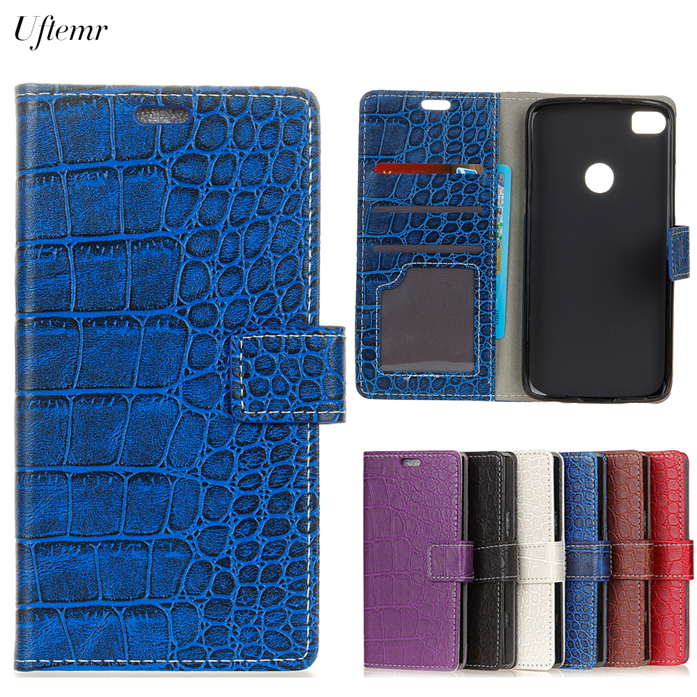 Uftemr Vintage Crocodile PU Leather Cover For P8 Lite 2017 Silicone Case For Huawei P8 Lite 2017 Wallet Card Slot Acessories