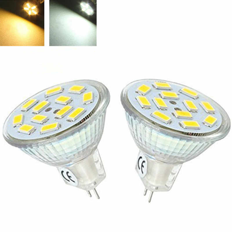Lámpara Led regulable MR11 GU4 3W 5W 7W 9LEDS 12LEDS 15LEDS 5730SMD AC/foco LED blanco cálido DC12V/luz blanca fría bombilla LED Spot