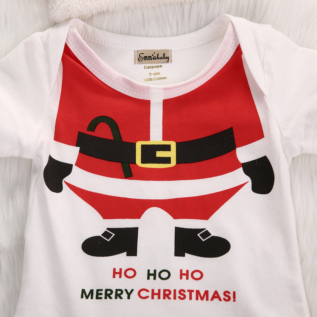 ab8ac555a5c65 2017 New Arrival Baby Christmas Rompers Santa Claus Cosplay jumpsuit Hats  Newborn Baby Girl Boy Christmas Dinner Clothes Wear-in Rompers from Mother  & Kids ...