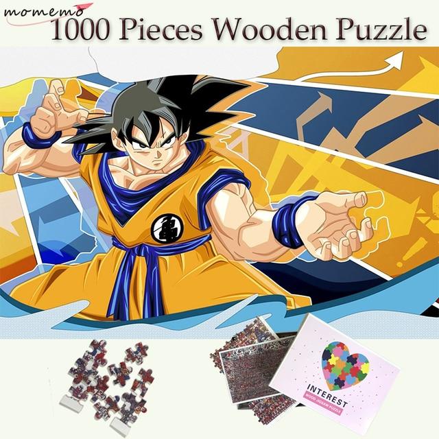 Quebra-cabeças De Madeira de 1000 Peças De Dragon Ball Kakarotto Anime Goku MOMEMO Adultos Enigma Jigsaw Puzzle 1000 Peças Brinquedos De Madeira Infantil