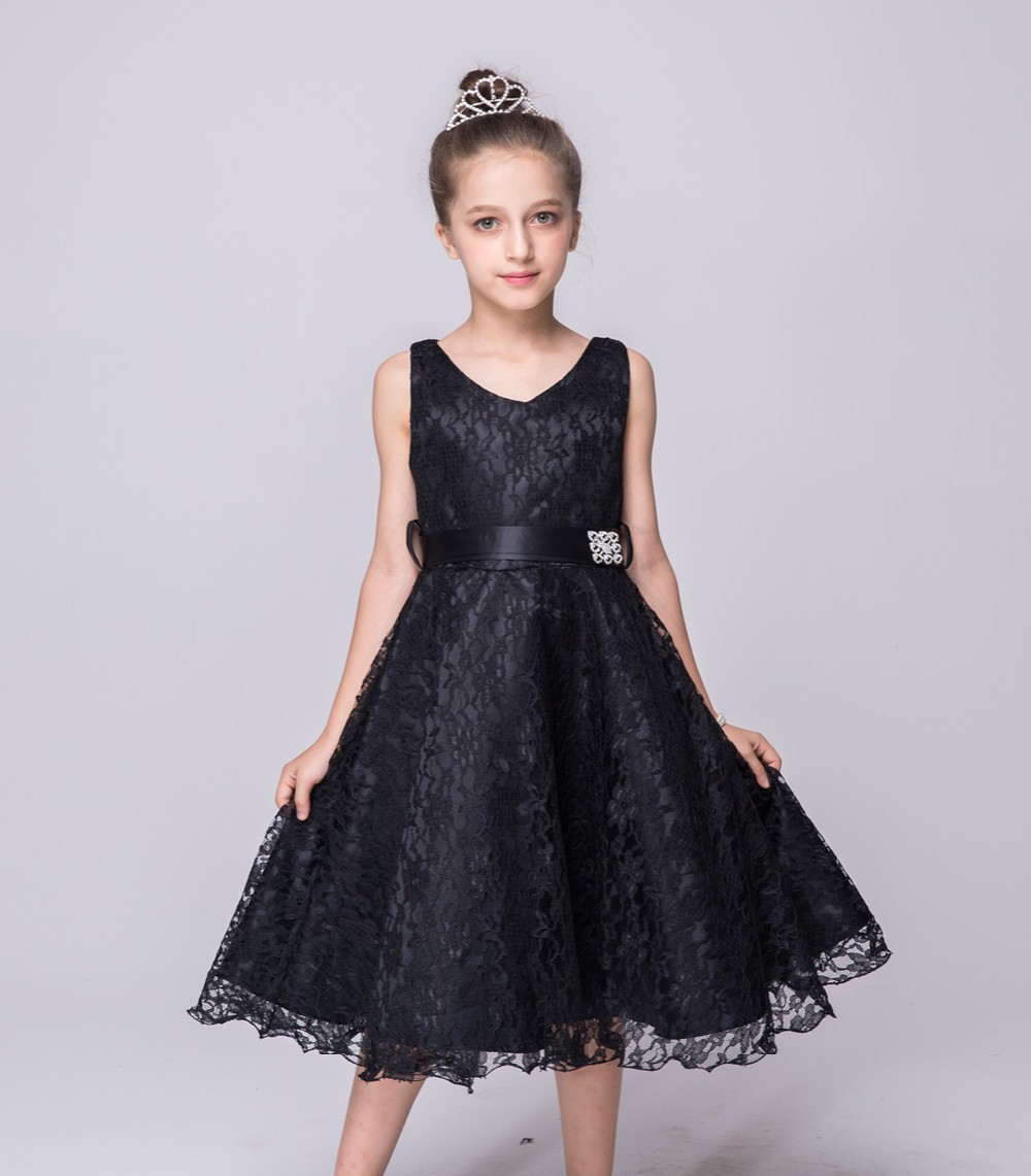 2016 summer sleeveless kids wedding bridesmaid girls for Teenage dresses for a wedding