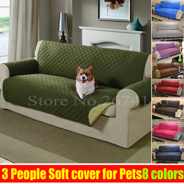 Free Shipping Three Seat SOFA Reversible Furniture Protector Features For  Cats Pet Nonslip Chair Covers