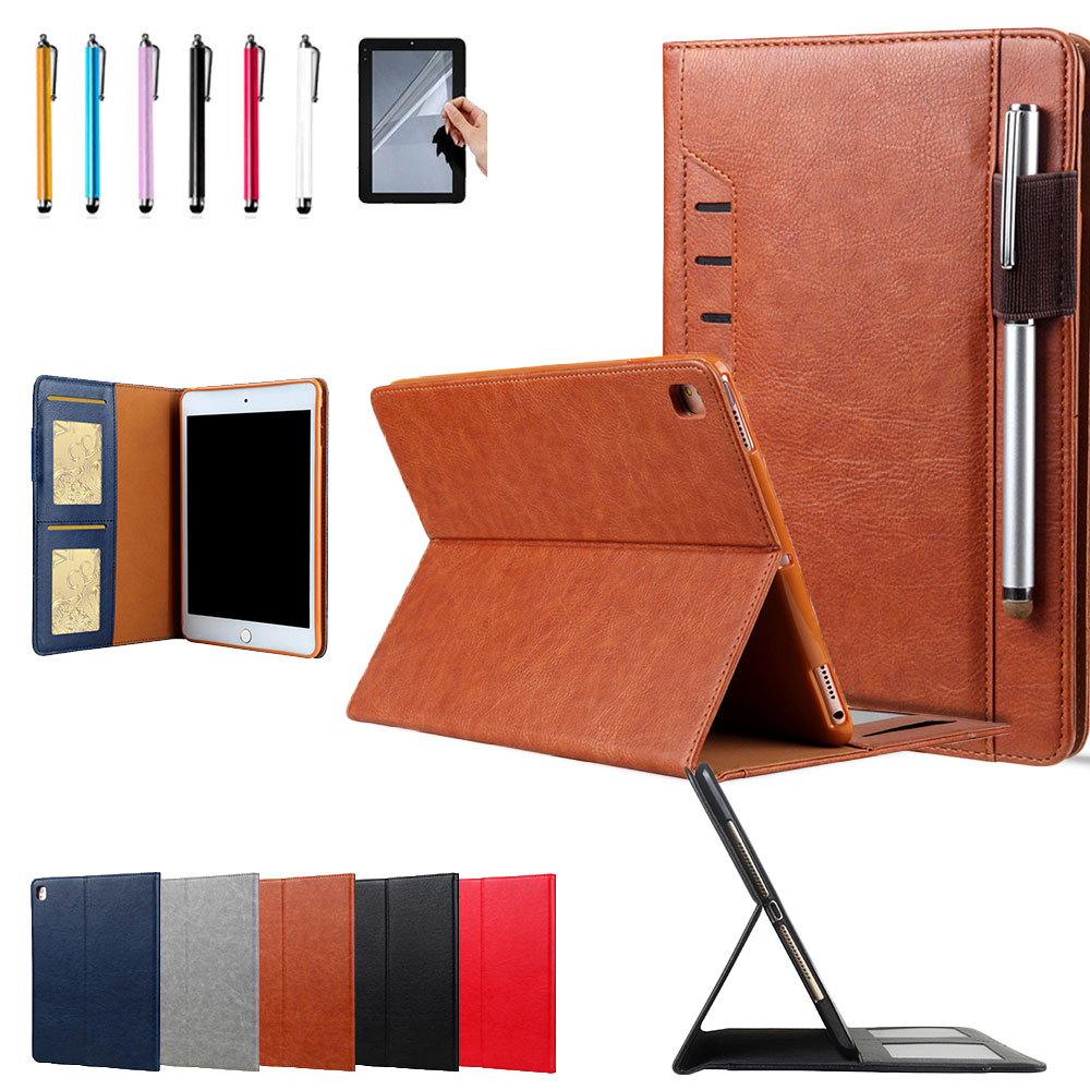 Eagwell Luxury Case For iPad pro 10.5 PU Leather Flip Stand Sleep/wake Case Cover With Card Slots & Pencil Holder Tablet Shell leather case flip cover for letv leeco le 2 le 2 pro black