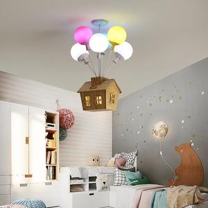 Image 5 - Nordic kolorowe balony wisiorek lampy sufitowe światła dzieci indywidualność lampy wiszące dekoracja pokoju dziecięcego oprawa oświetleniowa