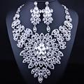 FARLENA JEWELRY Big Flower Necklace Earrings set for Women Luxry Crystal Rhinestone Dubai Bridal African Jewelry Sets
