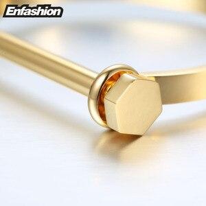 Image 5 - Enfashion שאקל U קאף צמיד Noeud armband זהב צבע בורג צמיד צמיד לנשים צמידי Manchette צמידים