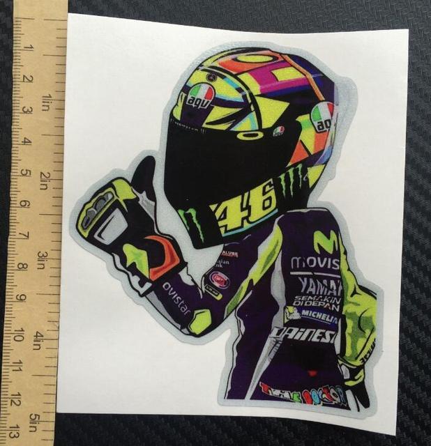 2016 new 46 helmet visor sticker die cut decal ironman vinyl car styling badge sticker