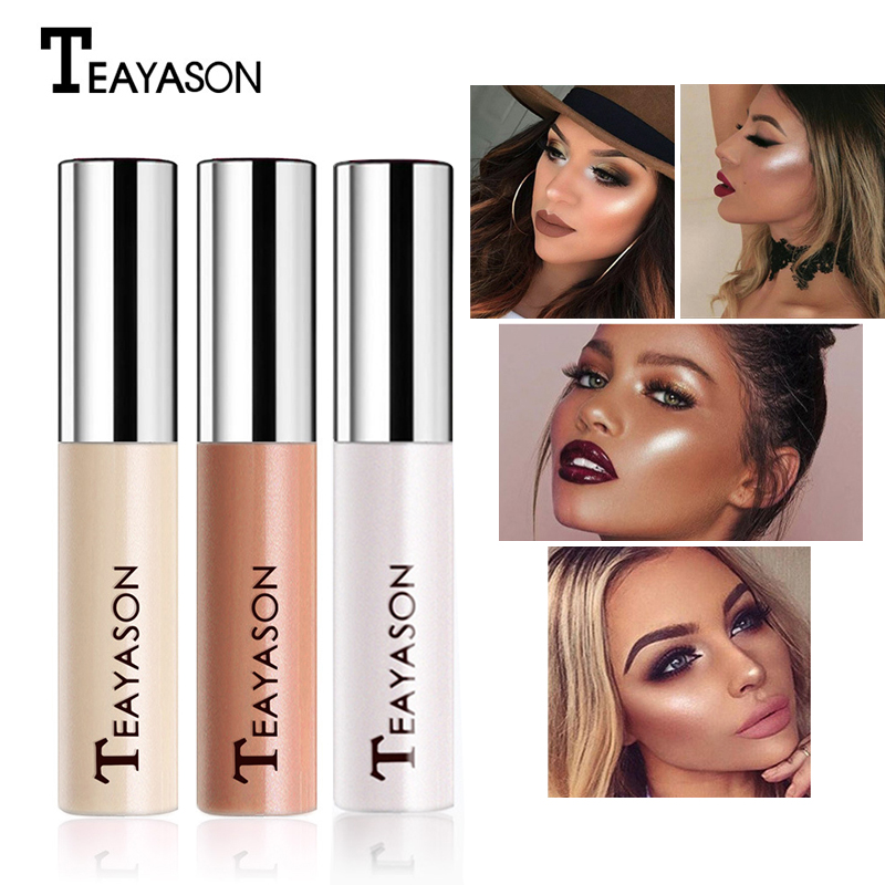 TEAYASON Face Liquid Highlighter Cream Liquid Illuminator Makeup Shimmer Glow  Make UpBronzer Highliter Brighten Beauty Cosmetic