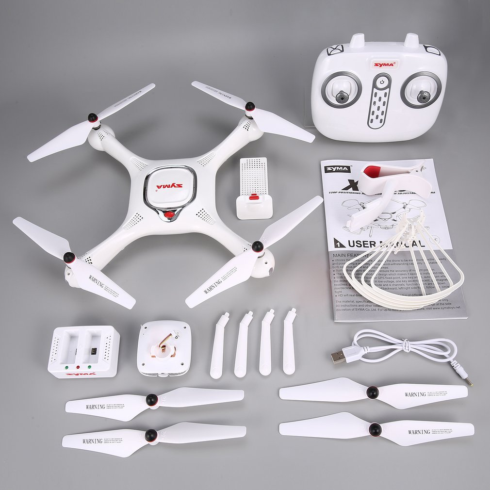 Drone SYMA X25PRO GPS RC avec caméra 720 P HD WiFi réglable suivez-moi Plan de vol maintien d'altitude Drons d'hélicoptère quadrirotor RC