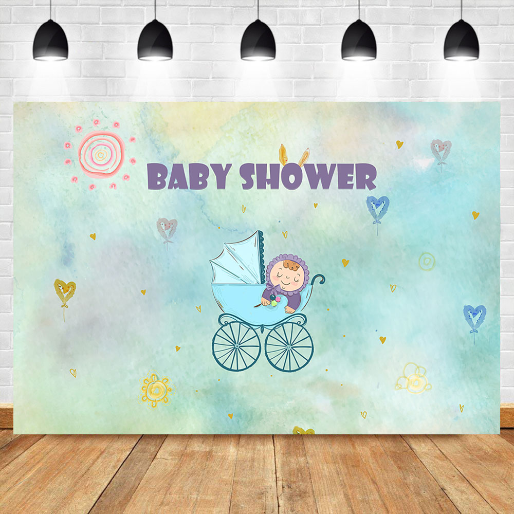 NeoBack Newborn Baby Shower Photography Backdrops Party Dessert Table Photographic Decorations Props