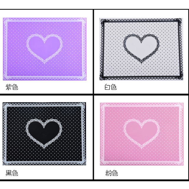 Nail Art Tips Practice Silicone Table Cover Mat Pad Point Lace Printing Coloring Polish Gel UV Washable Foldable Tools Manicure