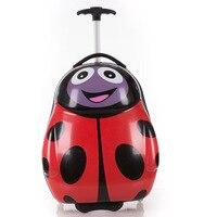 Walizka Turystyczna Animal Suitcase Child Kids Wheeled Trolleys Beautiful Ladybug Tourist Suitcases Luggage for Girls