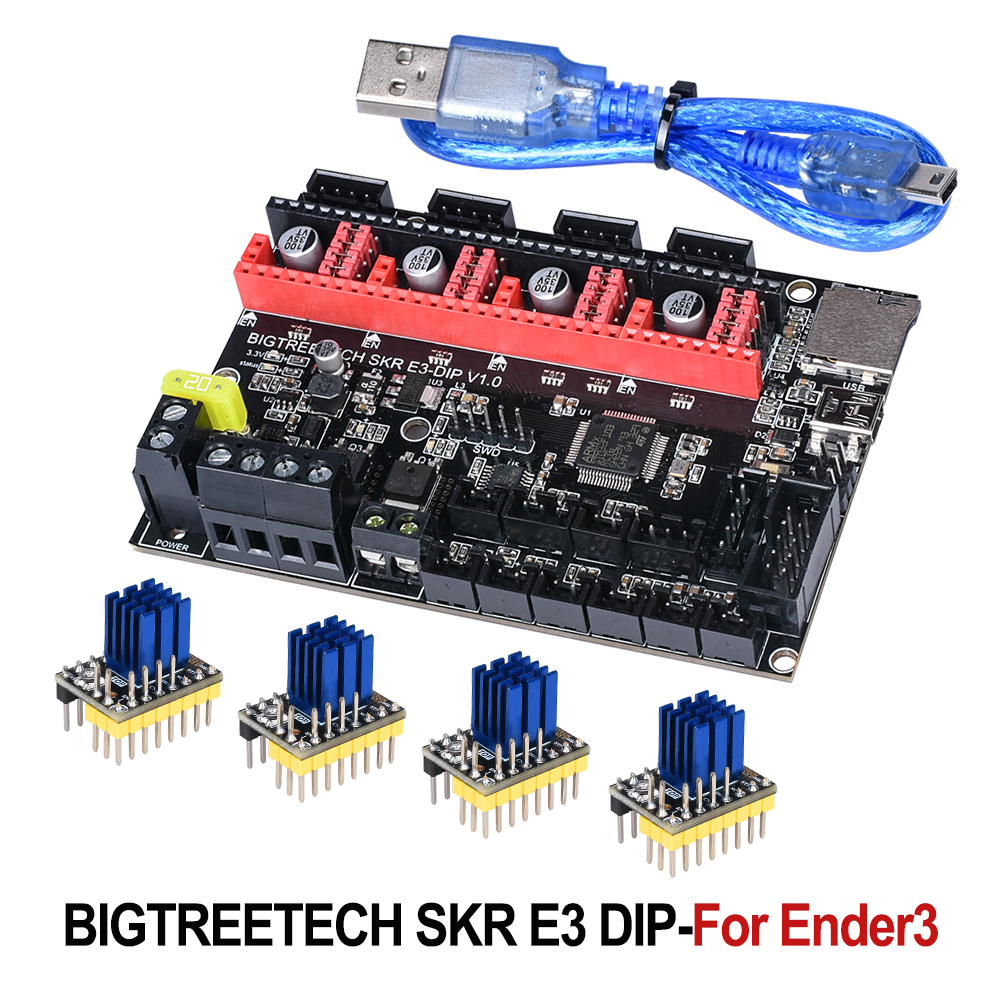 BIGTREETECH SKR E3 DIP V1.0 Control Board 32Bit For Ender-3 PRO 3D Printer Parts TMC2208 TMC2130 Spi VS Cheetah V1.1 Mini E3