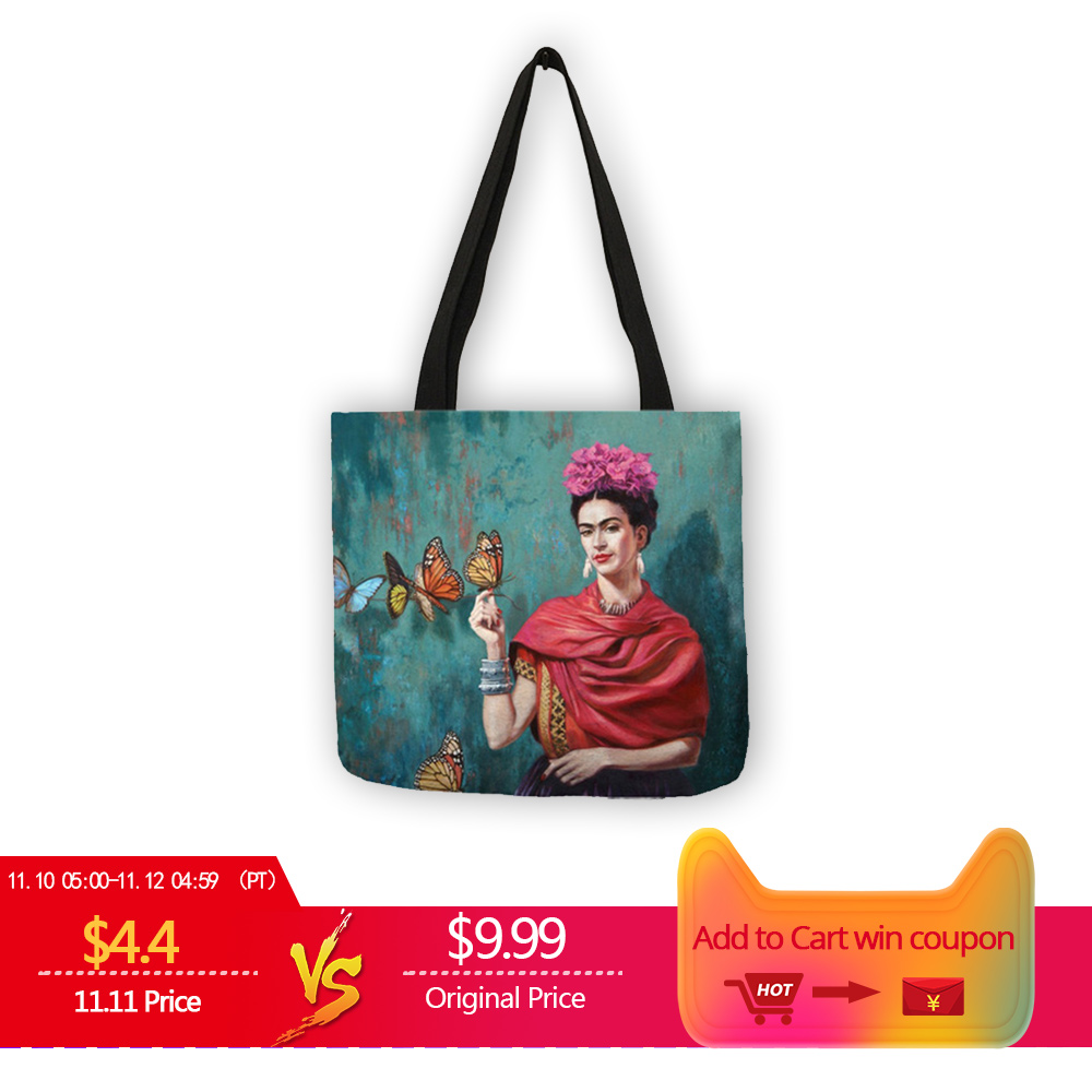 Exclusive Artist Printing Linen Tote Bag For Women Fashion Handbags Eco Reusable Shopping Bag Student School Bags Dropship unique customize tote bag eco linen bags with audrey hepburn print reusable shopping bags fashion handbag totes for women