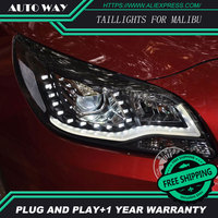 Free Shipping Car Styling LED HID Rio LED Headlights Head Lamp Case For Malibu Bi Xenon