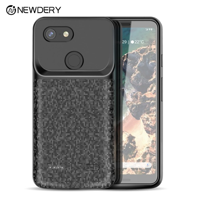 outlet store e372d 986d0 US $36.59 40% OFF|NEWDERY Battery case for Pixel 3 4700mAh TPU Raised  Bezels Rechargeable Charger Case Cover Compatible for Google Pixel 3XL 3  XL-in ...