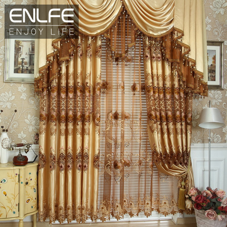 Enlfe 2015 new hot sale european style curtains - European style curtains for living room ...