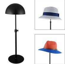 Clothing store Black Hat display stand adjustable peak cap storage rack bucket hat straw hat sunhat wig hairpiece display holder