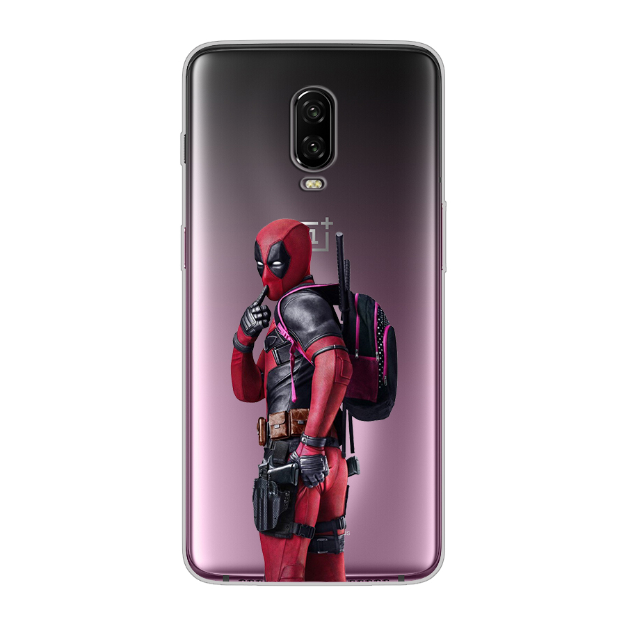 ciciber For Oneplus 6 6T 5 5T Silicone Phone Cases Deadpool Cute Cartoon Patterned Cover TPU For 1+ 6 5 T luxury Mobile Fundas