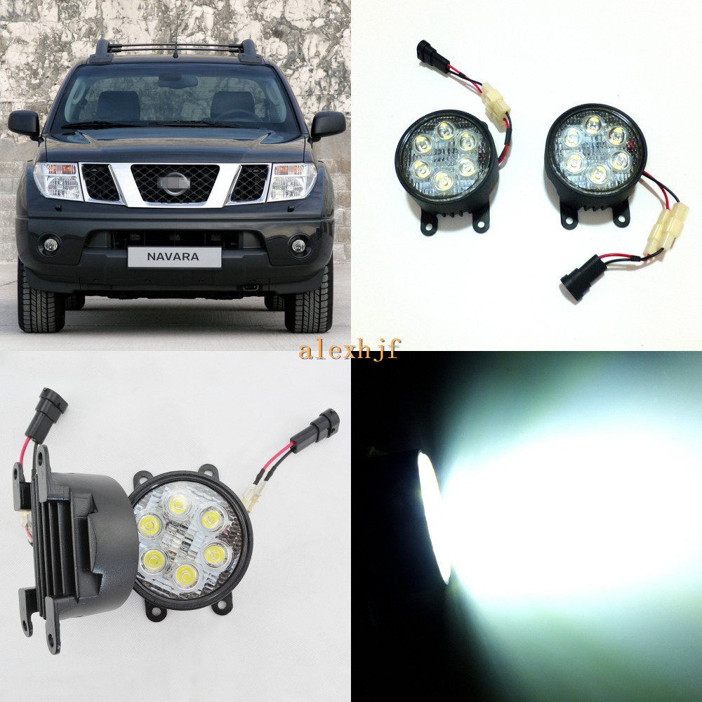 July King 18W 6LEDs H11 LED Fog Lamp Assembly Case for Nissan Navara 2006~2015, 6500K 1260LM LED Daytime Running Lights