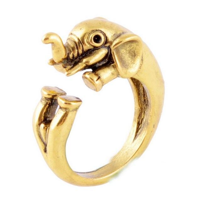 Hot Sale Elephant Animal Rings for Women and Girls Unique Rings