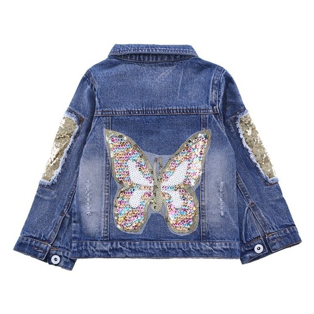 Girls Jackets Hole Cowboy Style Teens Outerwear embroidery Fashion Girls Jackets Coats Children's Clothing Kids Jean Jacket 2