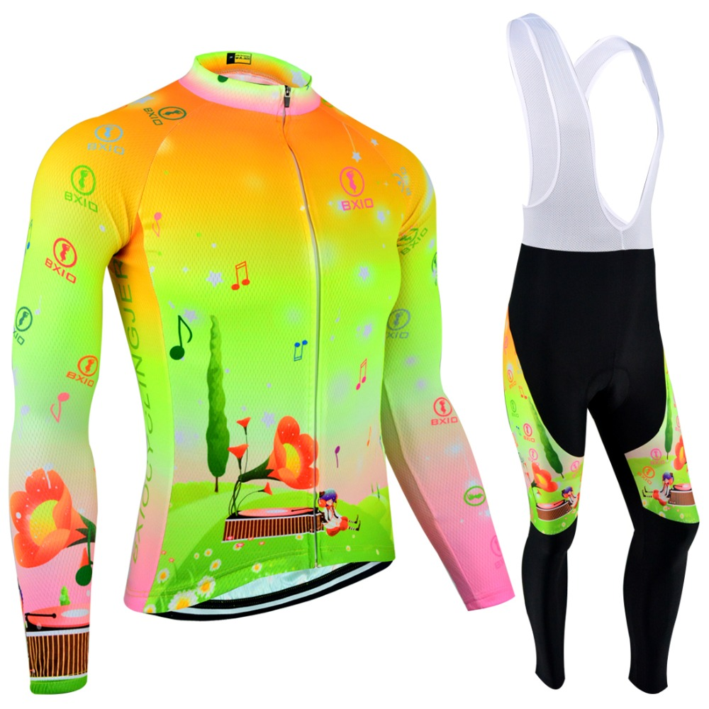 BXIO Mujer Ropa Ciclismo Fluo Clolors Bike Clothing Winter Thermal Fleece Cycling Jerseys Pro Team Autumn Bicycle Clothes 124 xintown pro team cycling jerseys ropa ciclismo maillot winter thermal fleece bicycle clothing mens bicycle clothing bike clothes