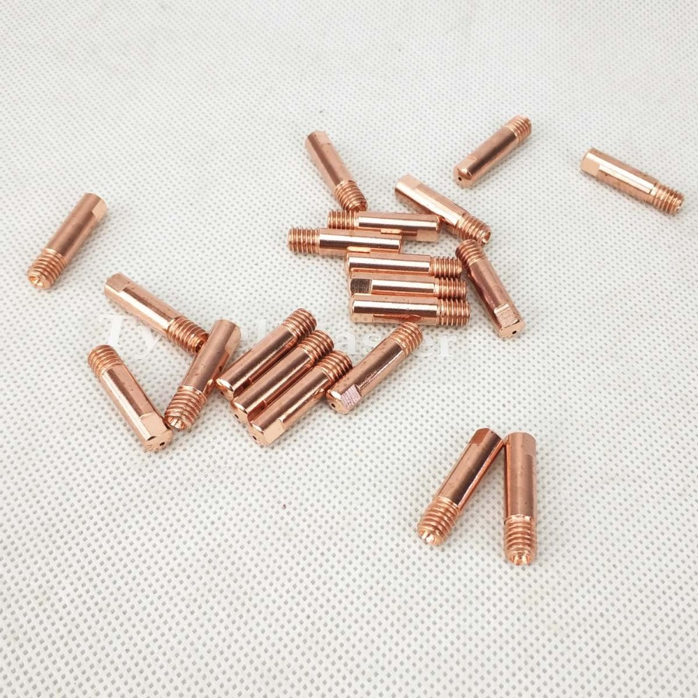 15AK Contact Tip CuCrZr MIG Torch/Gun Consumables 0.6 0.8mm 0.9 1.0 1.2 20pcs Welding Tips For Euro Style MIG MAG Welding Torch