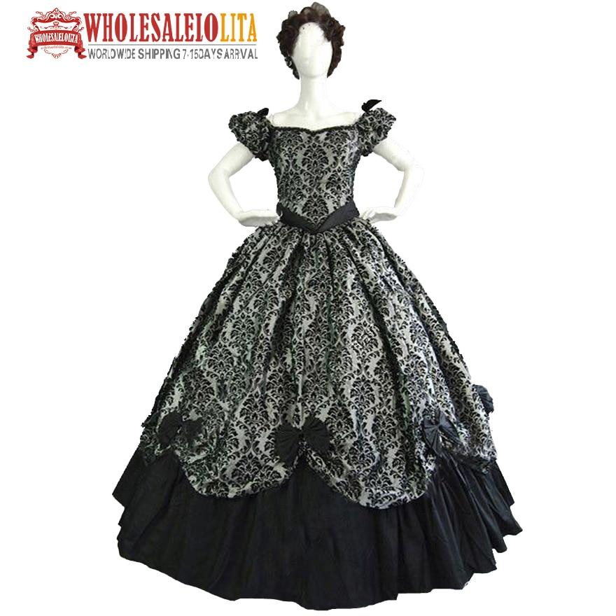 Vintage Costumes 1860 s guerre civile sud Belle gothique Lolita robe robes victoriennes