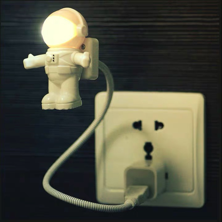 Flexible Spaceman Astronaut Usb Tube Led Night Light Lamp For Computer Laptop Pc Notebook Reading Portable Dc 5v Bulbs Cartoon