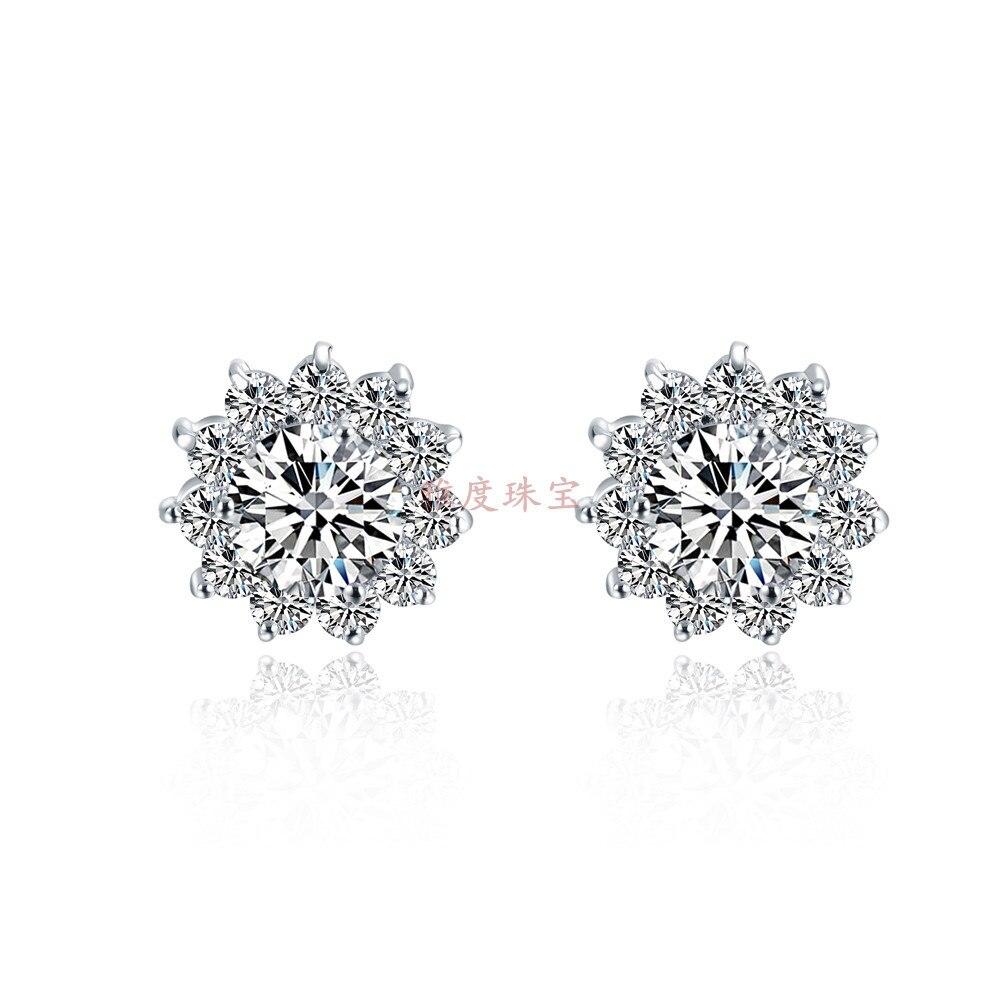 Piece Round Cut Synthetic Diamond Earrings Anniversary 925  Sterling Silver Earring Wedding Earrings