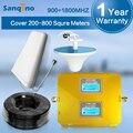 Sanqino ЖК-Дисплей GSM 900 мГц 1800 мГц Dual Band Мобильный Телефон Сигнал Повторителя Booster + Антенна Для Нескольких Устройств и Пользователей