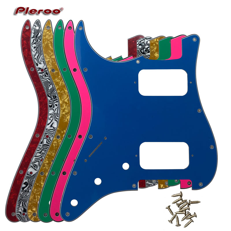 Pleroo Custom Guitar Parts - For Left Handed 72' 11 Screw Hole Standard St HH Humbuckers Pickups Guitar Pickguard Scratch Plate
