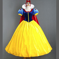 2016 Women Adult Halloween Cartoon Princess Snow White Costume For Sale Carnival Costumes Sexy Cosplay Costumes
