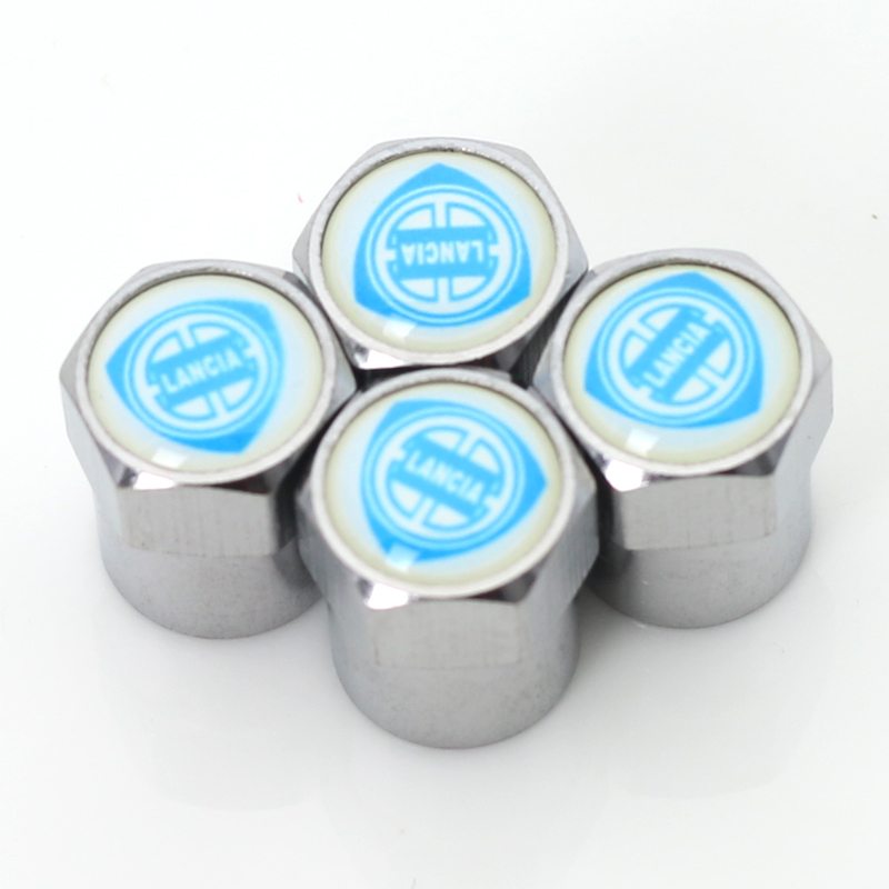 Car tire Valve Caps fit for fiat lancia badge Accessories car styling