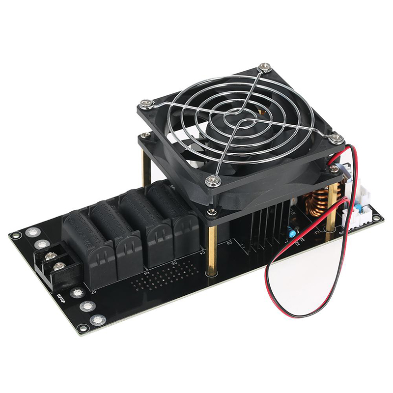 DC 12-40V 1000W 20A Induction Heating Board PCB Module Heater Coil with Fan Pro