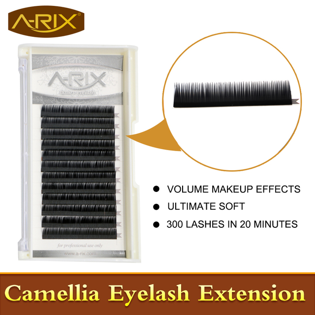 New Product 1pc Camellia Eyelash Extension 0.07 Super Soft Volume Eye Lash Mix Length in One Line C Curl 3D-6D Makeup Effect