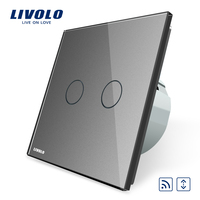 Livolo EU Standard Touch House Home Led Remote Curtains Switch VL C702WR 15 Crystal Glass