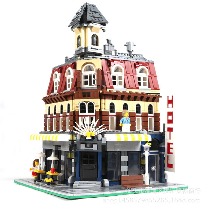 LEPIN 15002 2133Pcs Creators City Cafe Corner Model Building Kits Blocks Bricks  Educationa Toys Children Gifts Compatible 10182 lepin city town city square building blocks sets bricks kids model kids toys for children marvel compatible legoe