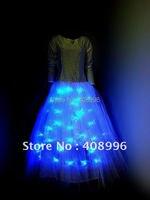 Дамская светодиодной подсветкой Балетные костюмы платье для вечеринки/производительность/танец платье/2012 платье/засветиться костюмы