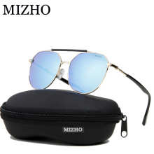 MIZHO Stainless Steel 19g Light Weight Protable Metal Mens Sunglasses Unisex Polarized Traveling UV400 SUNGlass Ladies Driving