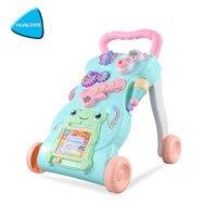 HUAILE ходунки сидеть, стоять учебный Многофункциональный Открытый игрушечный автомобиль раннего образования головоломки музыкальная игра с