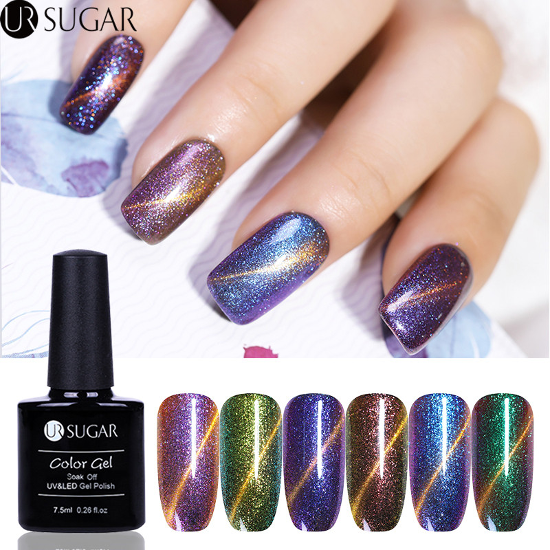UR SUGAR Chameleon 3D Cat Eye Nail Gel Polish Magnetic Starry UV Gel 7.5ml Manicure Nail Art Soak Off UV LED Varnish Lacquer