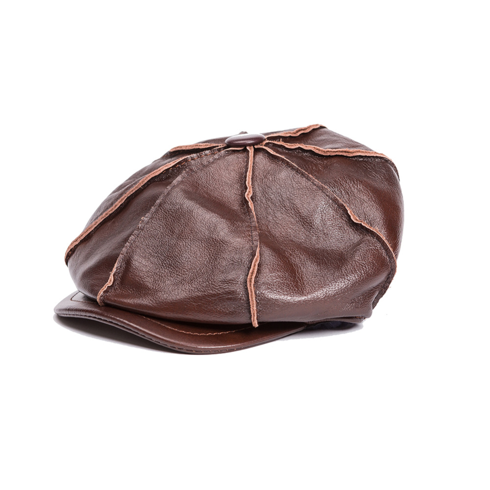 High quality Genuine Leather hat genuine cowhide hat baseball cap for men  hats Free Shipping 1f424c089993
