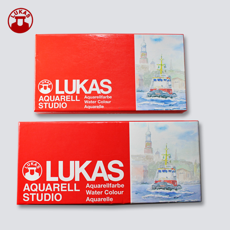 Free Shipping Germany Authentic LUKAS  Watercolor Paint Aquarellfarbe 12/9 Color Set High Aquarelle Fine  Studio Master Level