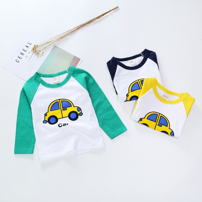 New Spring Boys Girls Cartoon Cotton T Shirts Children Tees Boy Girl Long Sleeve T Shirts Kids Tops Brand Baby Clothes 12M-8Y 35